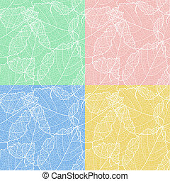 Set of autumnal seamless card vector eps 8