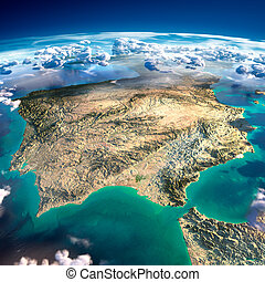 Fragments of the planet Earth Spain and Portugal - Highly...