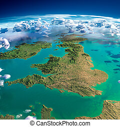 Fragments of the planet Earth. United Kingdom and Ireland -...