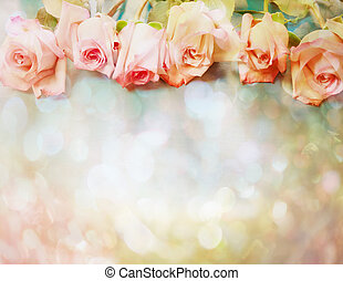 Vintage roses - Beautiful pink roses in a vintage style