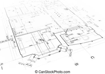 Architectural plan - Architectural background with technical...