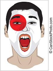 Japan fan face