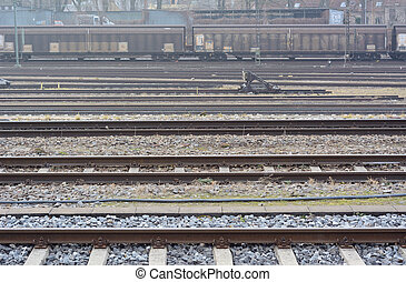 Train Yard - Industrial Rail Yard as Symbol of...