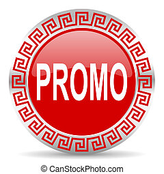 promo icon - red web button wtih greek ornament