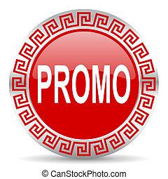 promo icon - red web button wtih greek ornament