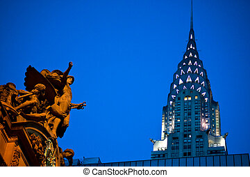 Grand Central Station, Chrysler Building - Statue of Mercury...