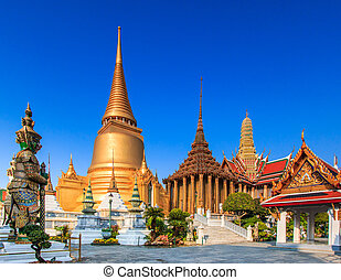 Wat Phra Kaeo, Temple of the Emerald Buddha Bangkok, Asia...