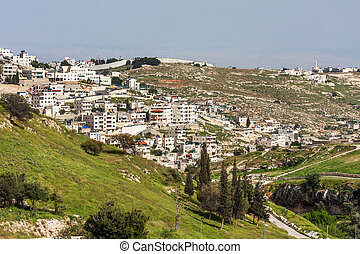 Palestinian town on suburb of Jerusalem. - Palestinian town...