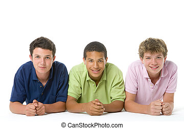 Portrait Of Three Teenage Boys
