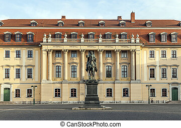 Carl-August Monument Weimar - Duke Carl August monument in...