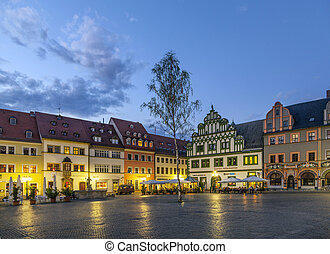 City view of Weimar, a city in Thuringia Germany - City view...