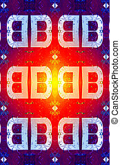BB Background - Colurful background featuring a double B...