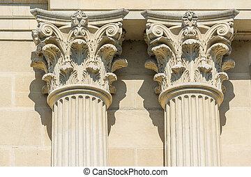 Greek Temple Corinthian Columns - Ancient Stone Temple...