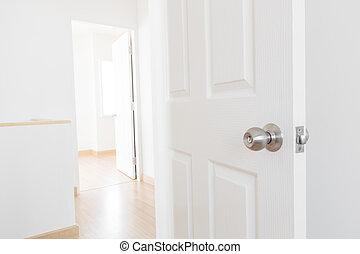 fehér, ajtó