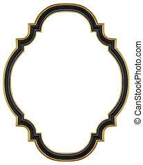 Black gilded frame - Wooden black gilded frame for mirrors,...