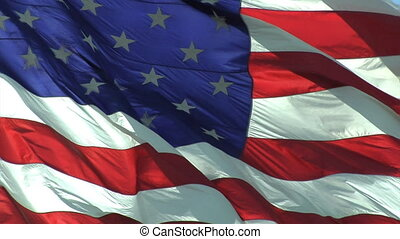 Flag Normal - High definition clip of the American flag...