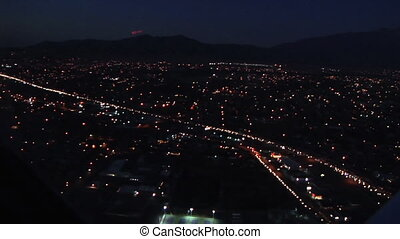 Night Scape B - Over view of a city at night shot from the...
