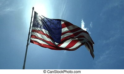Flag Part One - High definition clip of the American flag...