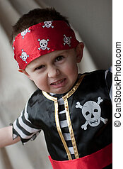 Young Pirate - Young male boy dressed in a pirate costume