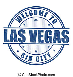 Welcome to Las Vegas stamp - Welcome to Las Vegas, Sin City...