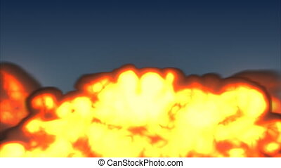 Fire Explosion Two - Black fire explosion in high definition...