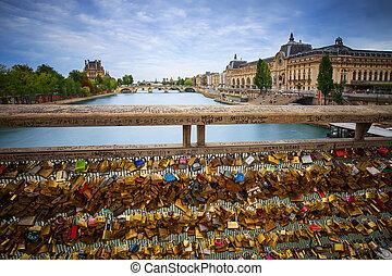 Locks on Paris bridge