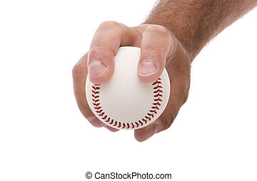 Two seam fastball grip - demonstrating the two seam fastball...