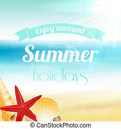 Summer holiday vacation poster - Summer holiday vacation...