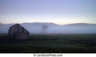 Foggy Timelapse - High definition time lapse of fog on a...