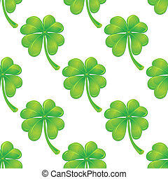 Seamless pattern with clover - Seamless pattern background...