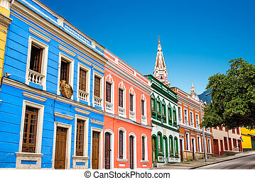 Colorful Facades - Colorful building in La Candelaria...