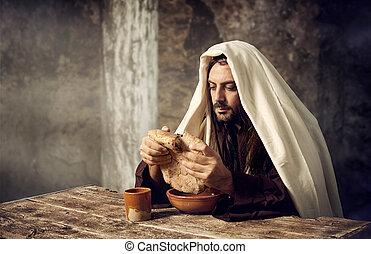 Jesus, fraturas, pão