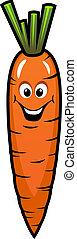 Fresh orange carrot vegetable