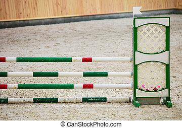 obstáculo, Saltar, caballos, equitación