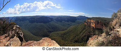 Grose Valley Blue Mountains Australia Panorama - Panorama...