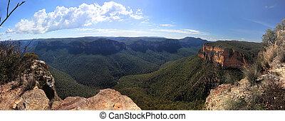 Grose Valley Blue Mountains Australia Panorama - Panorama...
