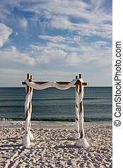 spiaggia, arco, matrimonio