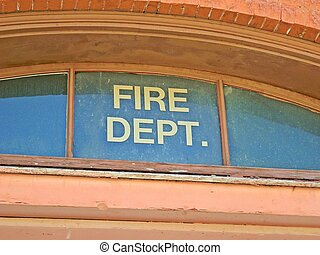 Old Fire Dept window