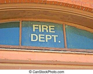 Old Fire Dept window