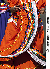 Mexican Dancers - Girls dancing in traditional Mexican style...