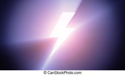 Illuminated lightning - Radiant light from the symbol of...