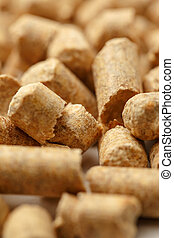 Wooden pellets closeup as background
