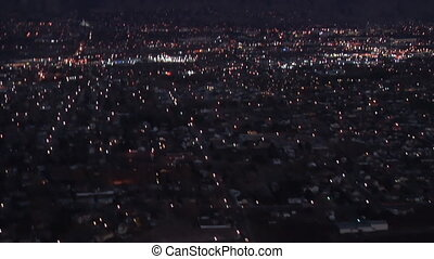 Evening Lights - High definition clip of an over view of a...