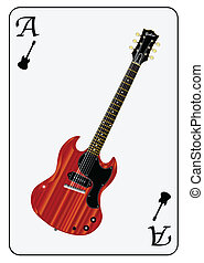 Solid Guitar Playing Card