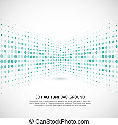 Abstract perspective background with halftone For your...