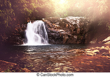 Waterfall on Sri Lanka,Horton Place
