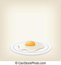 Vector fried egg
