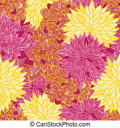 Seamless vector retro floral background