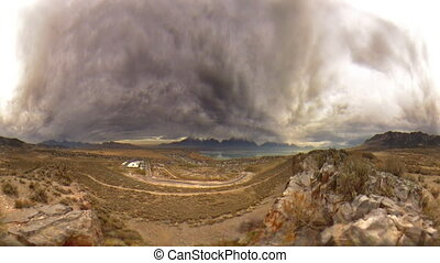 Stormy Landscape Two - High definition time lapse of a...