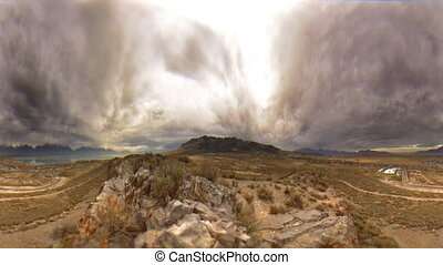 Stormy Landscape One - High definition time lapse of a...